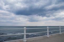 在黑海的多暴风雨的天气 图库摄影