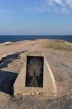 在黑海的岸的美丽的纪念碑Tarhanku的 免版税图库摄影