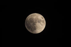 在黑海的巨大罕见的超级月亮 最大的超级月亮自1948年以来 2016年11月14日, 库存照片