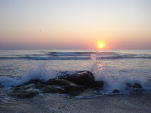 在黑海的日出 库存图片