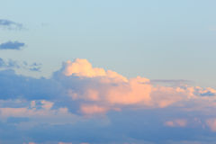 在黑海的日落天空 库存图片