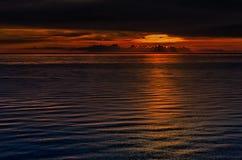 在黑海的日落 免版税库存图片