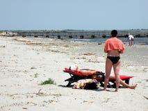 在黑海的海滩多瑙河三角洲的 免版税库存图片