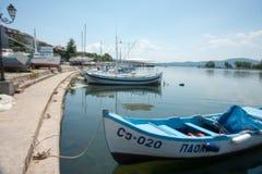在黑海的渔船 库存照片