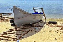 在黑海的渔船 免版税库存图片