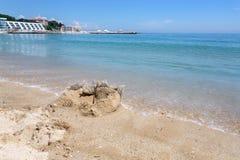 在黑海的瓦尔纳海滩 免版税图库摄影