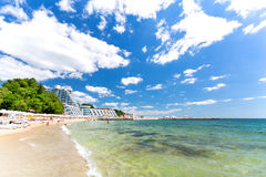 在黑海的瓦尔纳海滩 库存图片