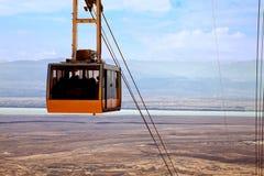 在死海的缆车 库存图片