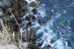 在黑海的防堤 库存图片