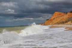 在黑海的风暴。 图库摄影