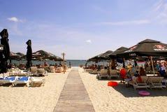 在黑海的Mamaia海滩 库存照片