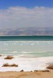 在死海,以色列的风景 库存照片