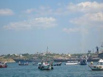 在黑海 库存照片