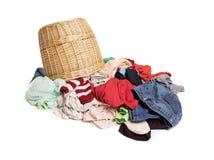 在洗涤前的五颜六色的衣裳 图库摄影