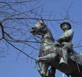 温菲尔德斯科特汉考克雕象 --总统候选人 图库摄影