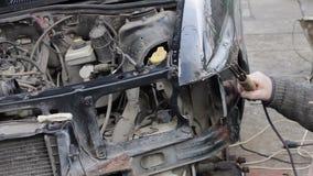 在崩溃以后的汽车修理 股票录像