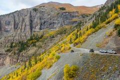 在黑熊通行证足迹的秋天 图库摄影