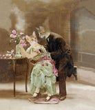 在1900年爱恋的猫 库存图片