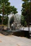 在购物中心中央节日附近的喷泉,芭达亚 库存照片