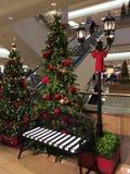 在购物中心的圣诞节 库存照片