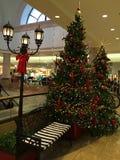 在购物中心的圣诞节 免版税库存图片