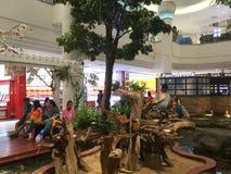 在购物中心Bangkae整修的内部看法 免版税库存照片