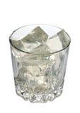 在玻璃三的冰 库存图片
