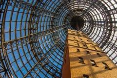 在玻璃圆顶里面的大厦 免版税库存图片