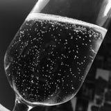 在玻璃杯子的汽酒 免版税库存图片