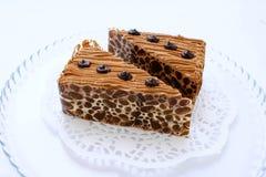 二个巧克力蛋糕 库存图片