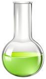在玻璃烧杯的绿色液体 皇族释放例证