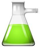 在玻璃烧杯的绿色液体 向量例证