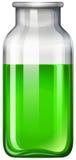 在玻璃瓶的绿色液体 皇族释放例证