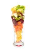 在玻璃的健康混合果子健康汁液的 图库摄影