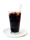 在玻璃的可乐 免版税图库摄影