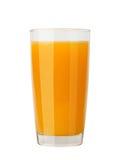 在玻璃的可口新鲜的自然橙汁 免版税库存图片
