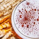 在玻璃的啤酒 免版税库存照片