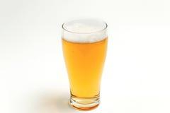 在玻璃的啤酒 库存图片