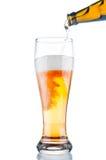 在玻璃的啤酒 库存照片
