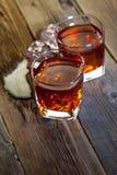 在玻璃的威士忌酒 免版税图库摄影