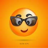 在玻璃的微笑面孔 也corel凹道例证向量 免版税库存图片