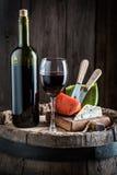 在玻璃的新鲜的酒用芳香开胃菜 免版税库存照片