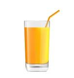 在玻璃的橙汁 向量例证