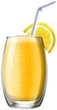 在玻璃的橙色圆滑的人 皇族释放例证