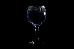 在玻璃的泡影 库存图片