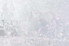 在玻璃的背景冷淡的样式 库存照片