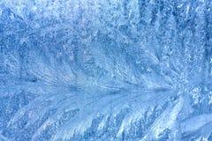 在玻璃的背景冷淡的样式 免版税图库摄影
