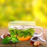 在玻璃的茶 免版税图库摄影