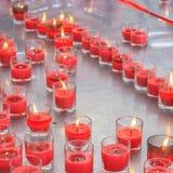 在玻璃的蜡烛 免版税库存图片
