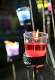 在玻璃的蜡烛 免版税库存照片